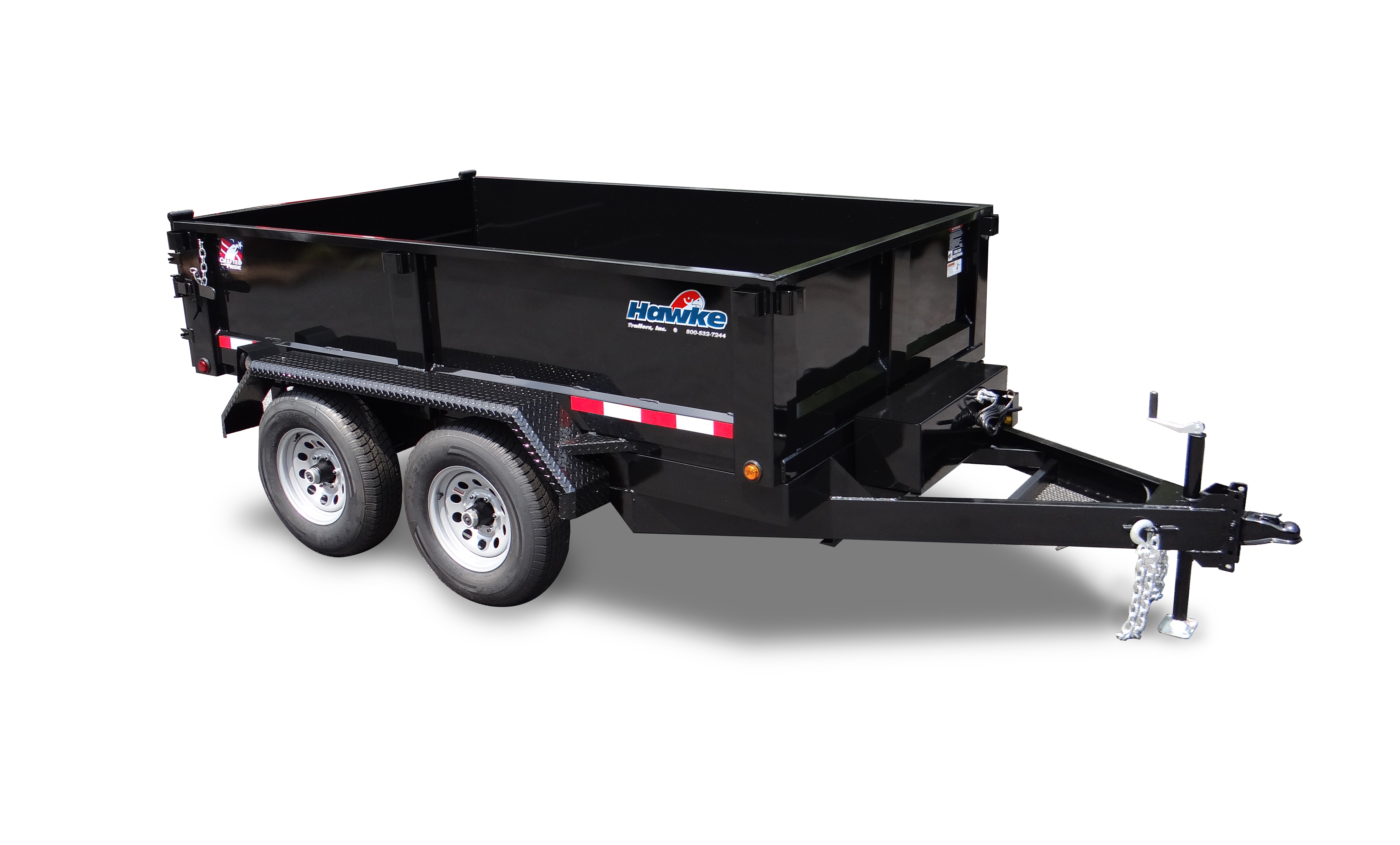 6x10 10K Hawke Low Profile Dump Trailer